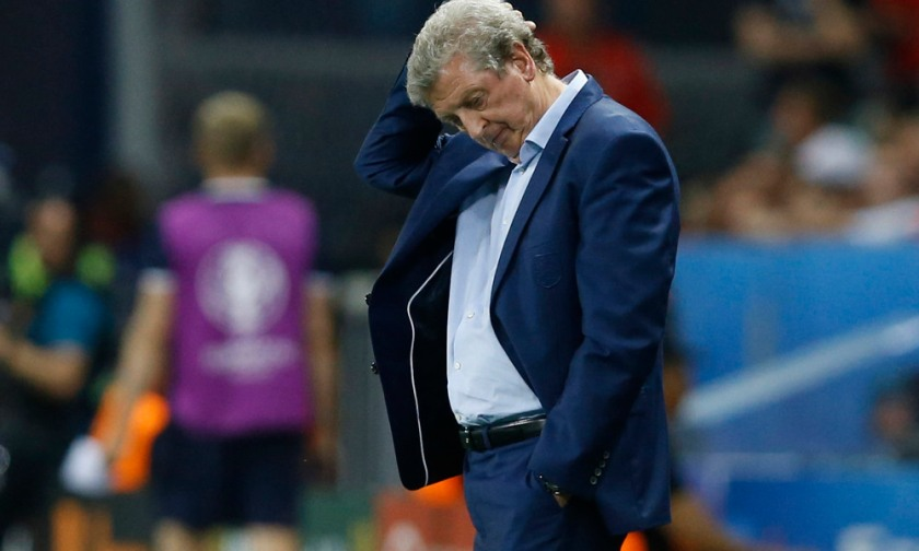 England coach Roy Hodgson stands on the sidelines during the Euro 2016 round of 16 soccer match between England and Iceland, at the Allianz Riviera stadium in Nice, France, Monday, June 27, 2016. (AP Photo/Kirsty Wigglesworth) ORG XMIT: FOS291
